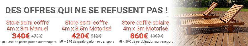 Le spécialiste du store extérieur de terrasse - Des offres qui ne se refusent pas ! - Store banne discount